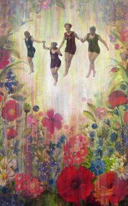 4 jumping ladies